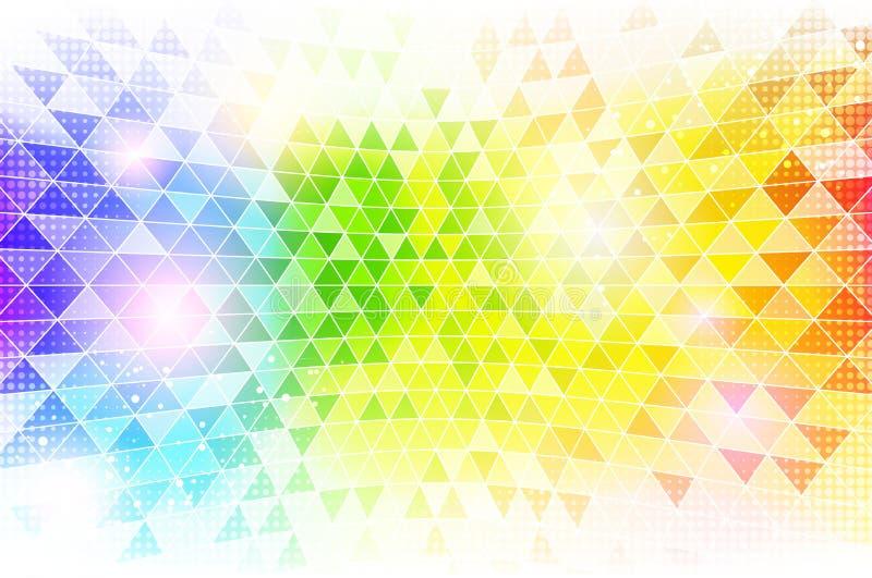 Mosaisk bakgrundstextur för regnbåge royaltyfri illustrationer