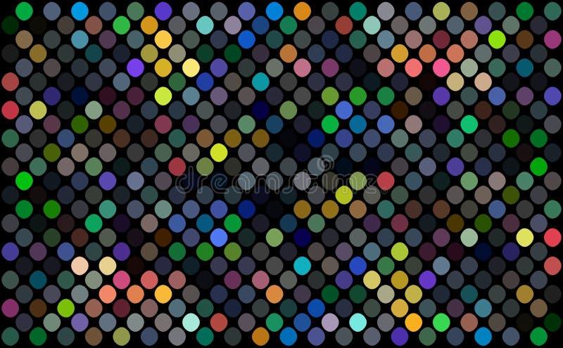 Mosaisk färgrik trend för tapet för prickmodell Gul röd blå grön geometrisk modell Illustration för dekor för diskonattparti vektor illustrationer