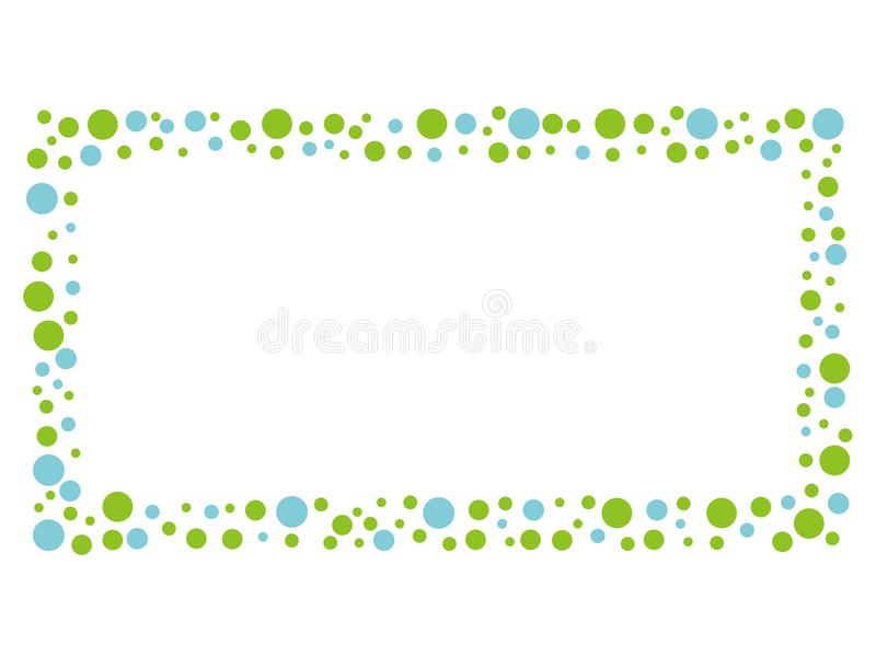 Mosaisk meddelanderam med blått- och gräsplanprickmodellen royaltyfria foton