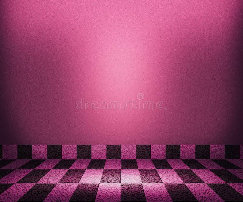 Mosaisk rumbakgrund för violett schackbräde royaltyfri illustrationer