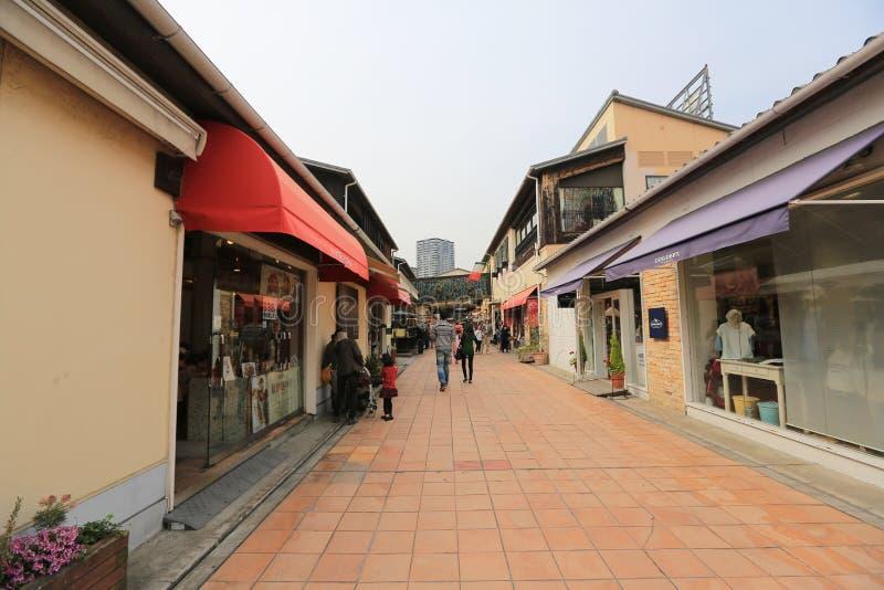 Mosaisk shoppinggalleria i Harborland Kobe Japan arkivbild