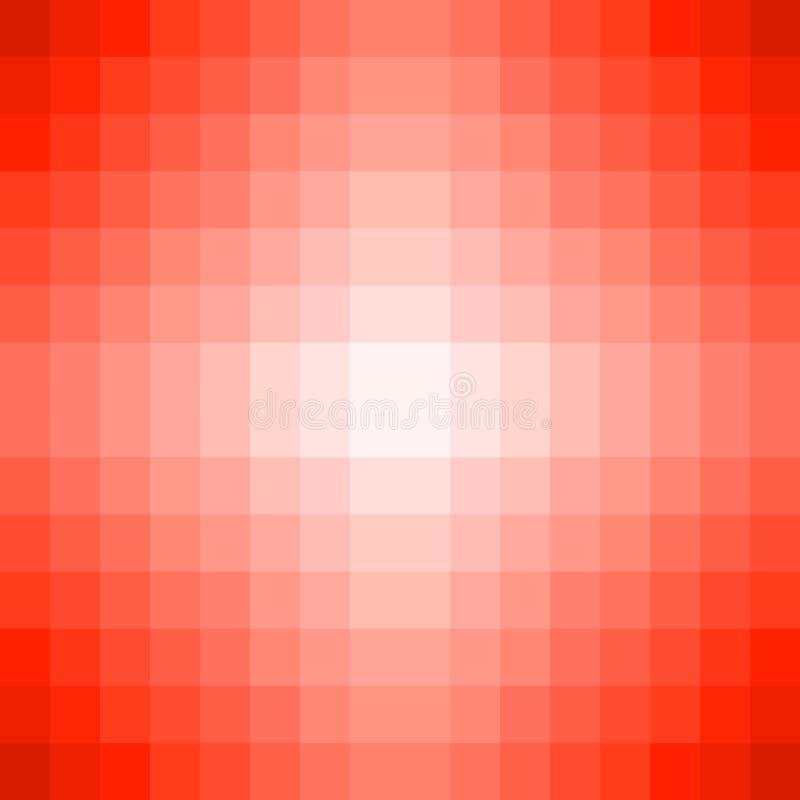 Mosaisk textur för PIXEL med röd och vit färg vektor illustrationer