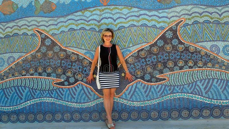 Mosaisk vägg royaltyfri foto