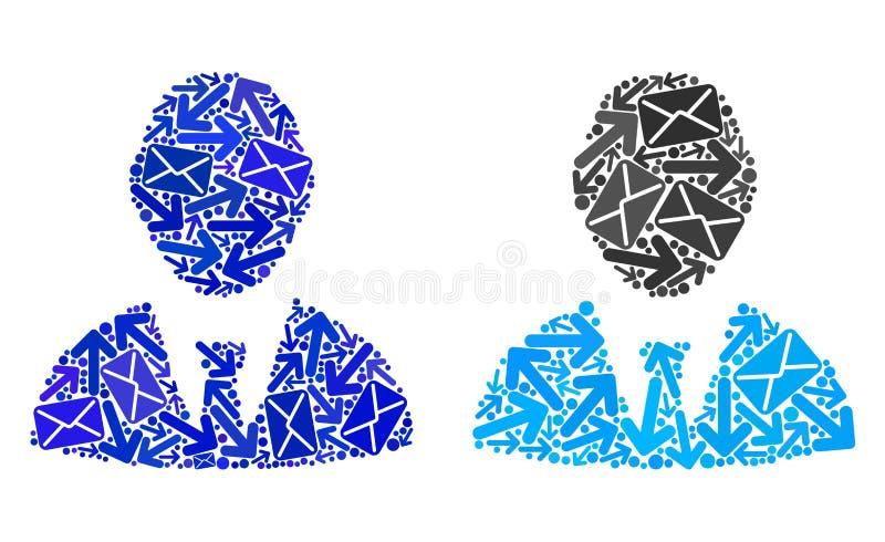 Mosaiskt framstickande Icons för postvägar stock illustrationer