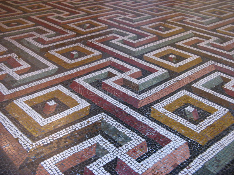 Mosaiskt golv royaltyfri bild