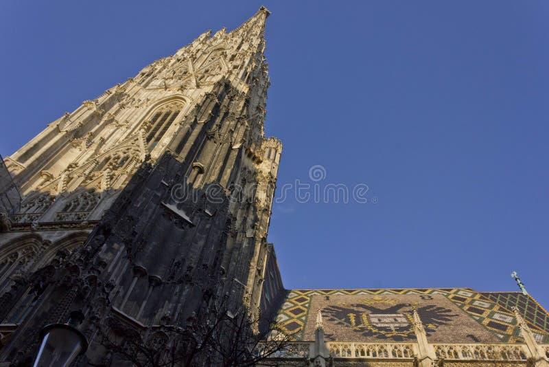 Mosaiskt tak av den Stephandsom domkyrkan i Wien royaltyfri foto