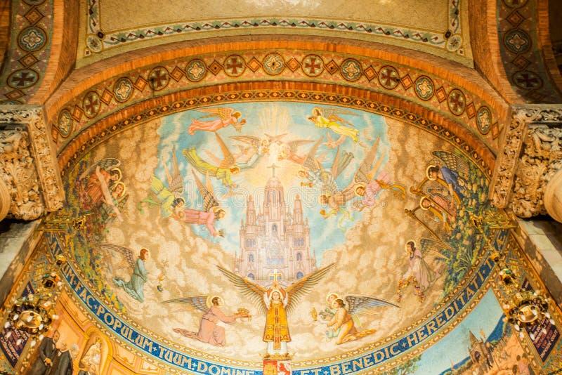 Mosaiskt tak i kyrka royaltyfri fotografi