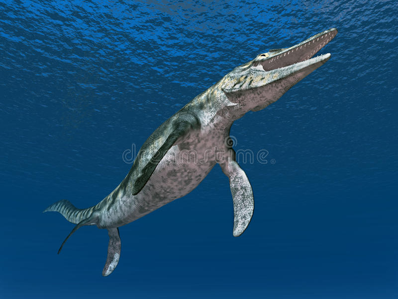 Mosasaur Tylosaurus illustration stock