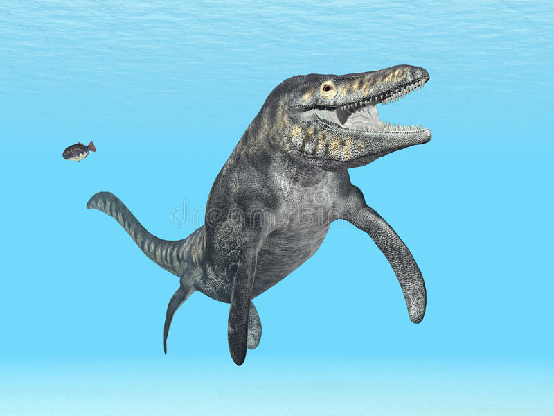 Mosasaur Tylosaurus illustration libre de droits