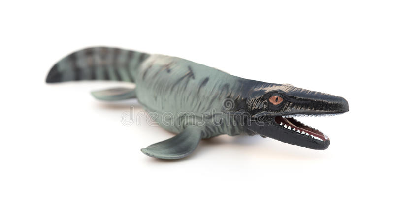 Mosasaurus toy royalty free stock photo