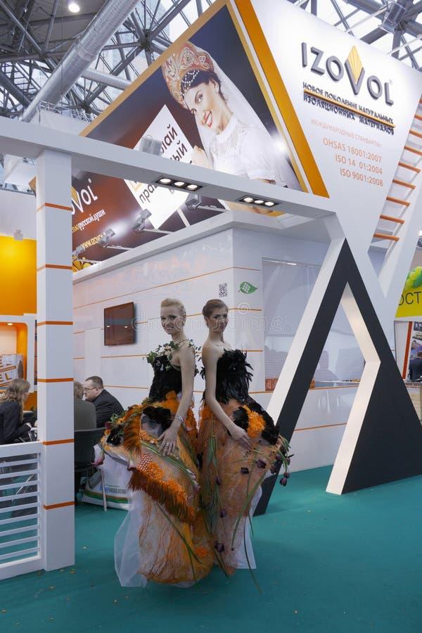 mosbuild 2012 international выставки стоковое изображение