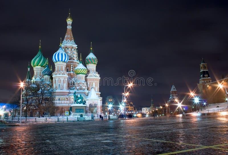 Moscú, catedral de la albahaca del santo foto de archivo