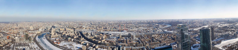 Moscú de la altura de los pájaros foto de archivo libre de regalías