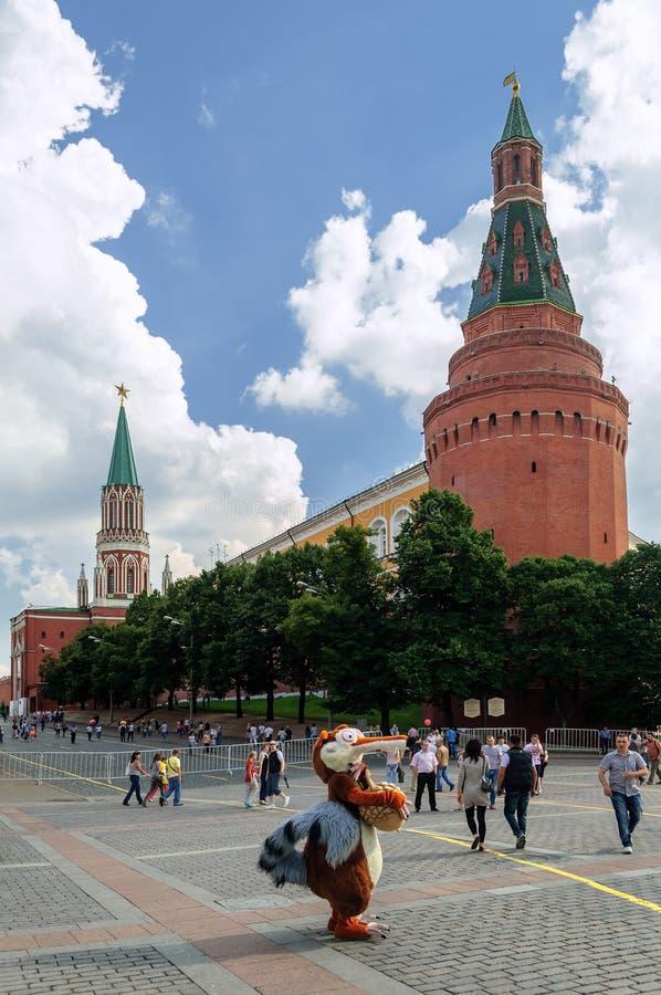 Moscú el Kremlin la torre de la esquina del arsenal fotos de archivo libres de regalías
