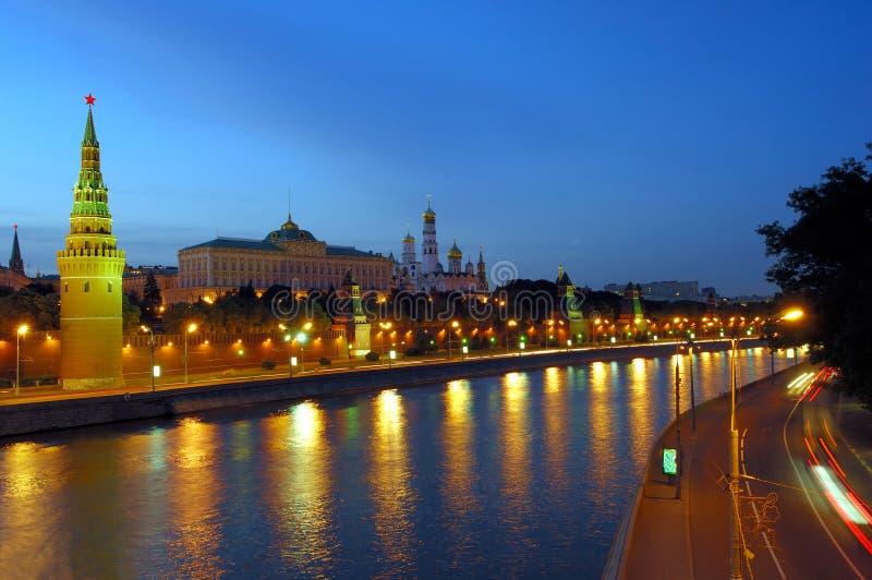 Moscú Kremlin por la tarde foto de archivo libre de regalías