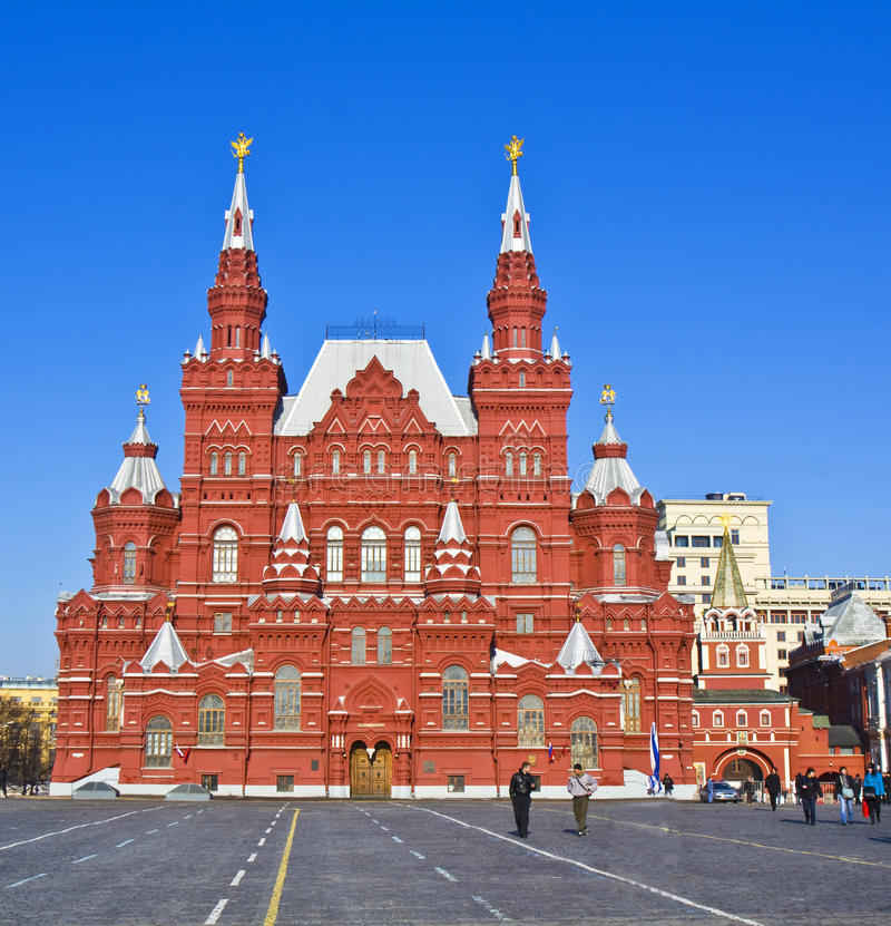 Moscú, museo histórico y cuadrado rojo foto de archivo libre de regalías