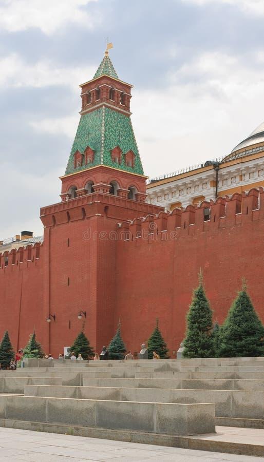 Moscú. Plaza Roja.  Torre del senado foto de archivo libre de regalías