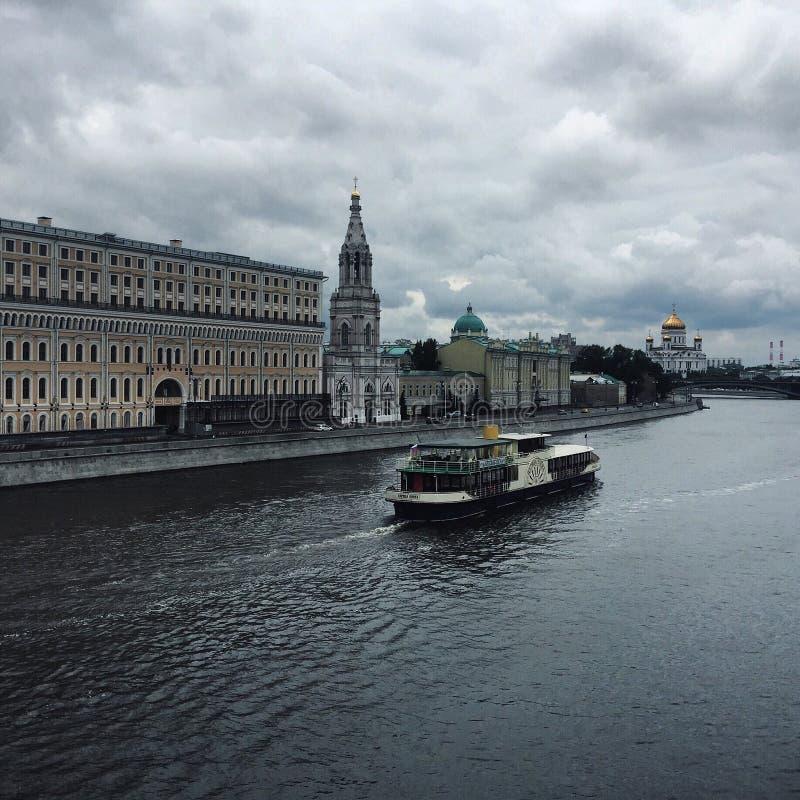 Moscú-río imagen de archivo libre de regalías