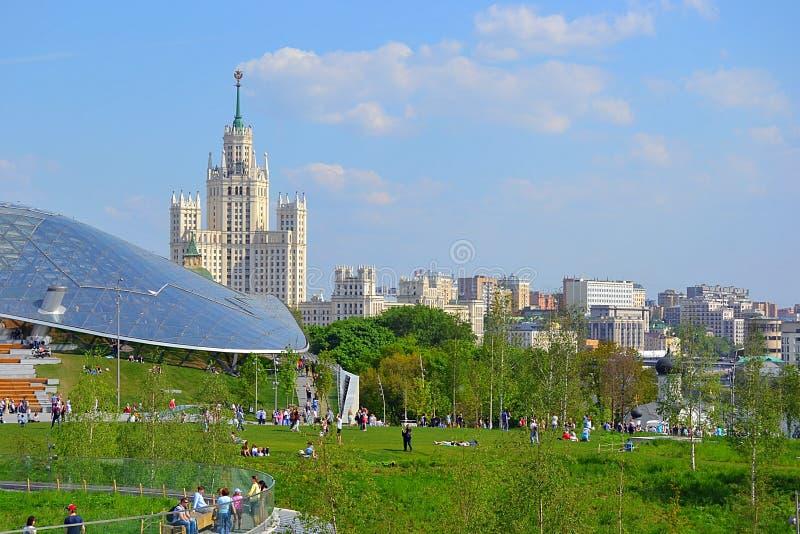Moscú, Rusia, ciudad, 2018, megapolis, la Plaza Roja fotos de archivo libres de regalías
