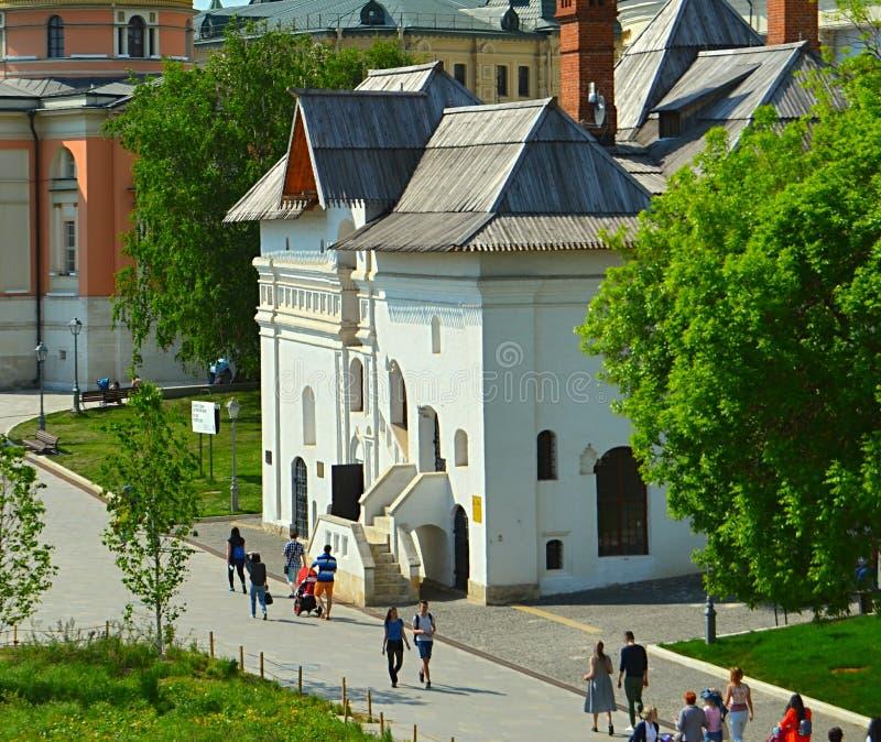 Moscú, Rusia, ciudad, 2018, megapolis, la Plaza Roja, parque de Zaryadye imagen de archivo