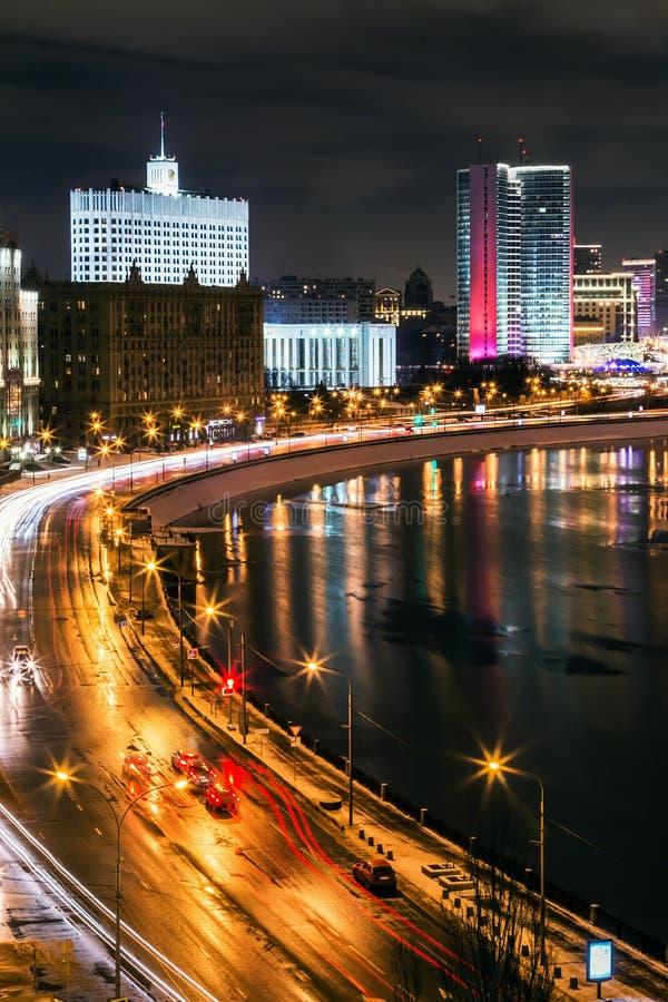 Moscú, Rusia - 23 de febrero de 2017: Vista del edificio de Novy foto de archivo libre de regalías