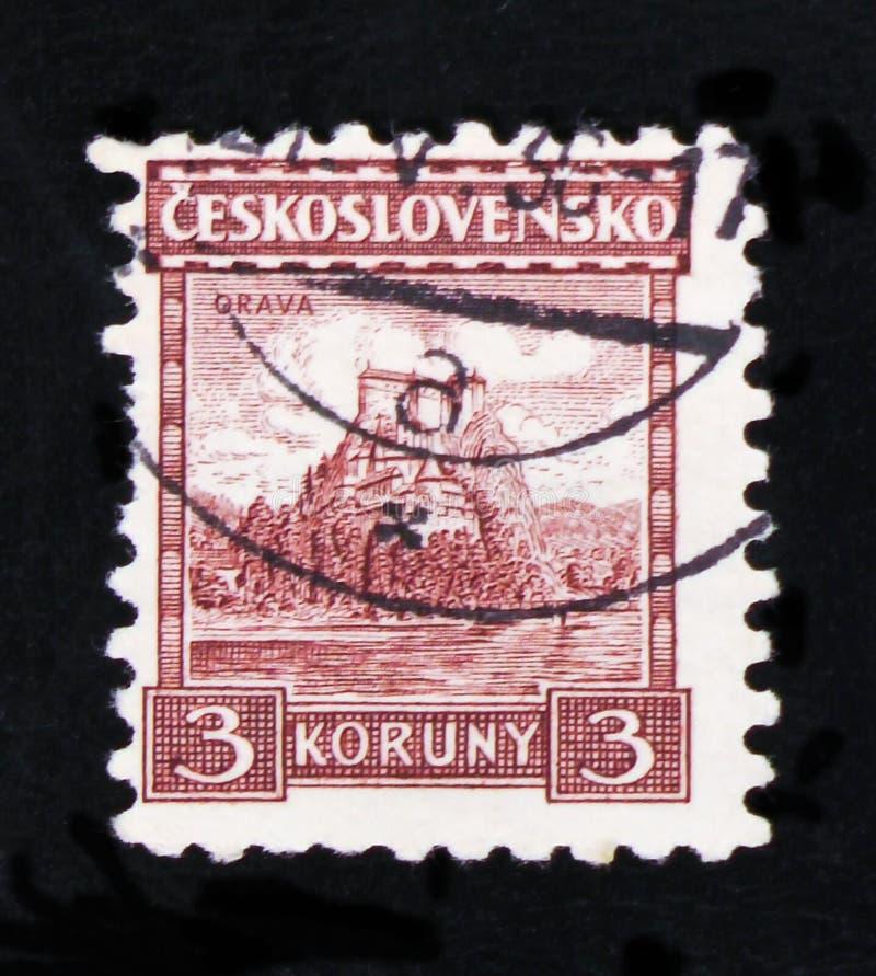 MOSCÚ, RUSIA - 20 DE JUNIO DE 2017: Un sello impreso en Czechoslovaki imagen de archivo