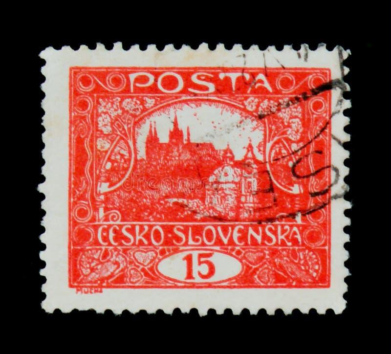 MOSCÚ, RUSIA - 20 DE JUNIO DE 2017: Un sello impreso en Czechoslovaki imagenes de archivo