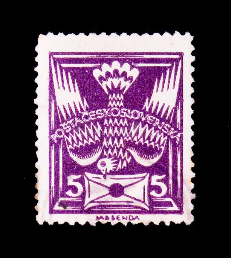 MOSCÚ, RUSIA - 20 DE JUNIO DE 2017: Un sello impreso en Czechoslovaki fotografía de archivo