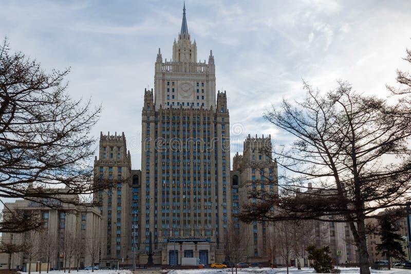 Moscú, Rusia - 25 de marzo de 2018: Edificio del Ministerio de Asuntos Exteriores de la Federación Rusa fotos de archivo