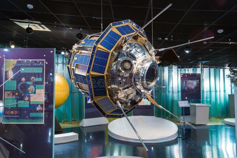 MOSCÚ, RUSIA - 31 DE MAYO DE 2016: Exposición del museo espacial imágenes de archivo libres de regalías
