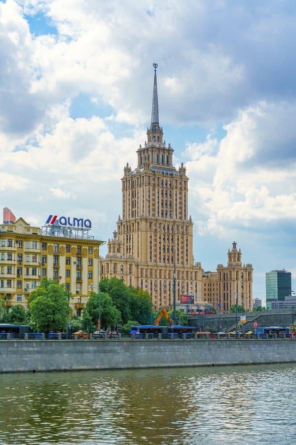 Moscú, Rusia - 26 de mayo de 2019: Hotel real Ucrania del hotel de Radisson foto de archivo libre de regalías