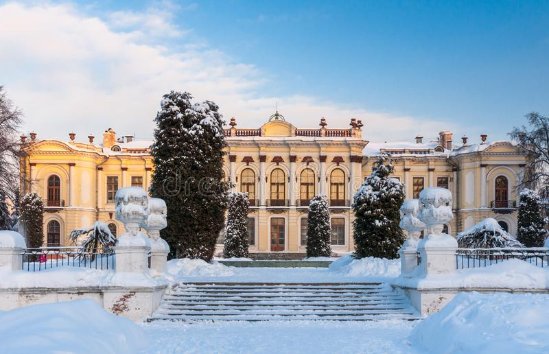 Moscú, Rusia, el 4 de enero de 2011: Universidad agraria del estado ruso - academia agrícola de Moscú Timiryazev foto de archivo libre de regalías