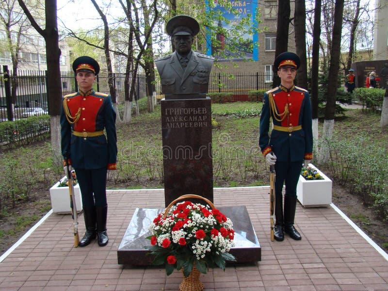 Moscú, Rusia, el 9 de mayo de 2018, honrando la gran guerra patriótica de los soldados del regimiento de la transfiguración y de  imagenes de archivo