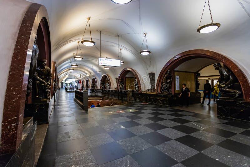 Moscú, Rusia puede 26, 2019 cuadrados de la revolución de la estación de metro está situada en el corazón de la ciudad cerca del  foto de archivo