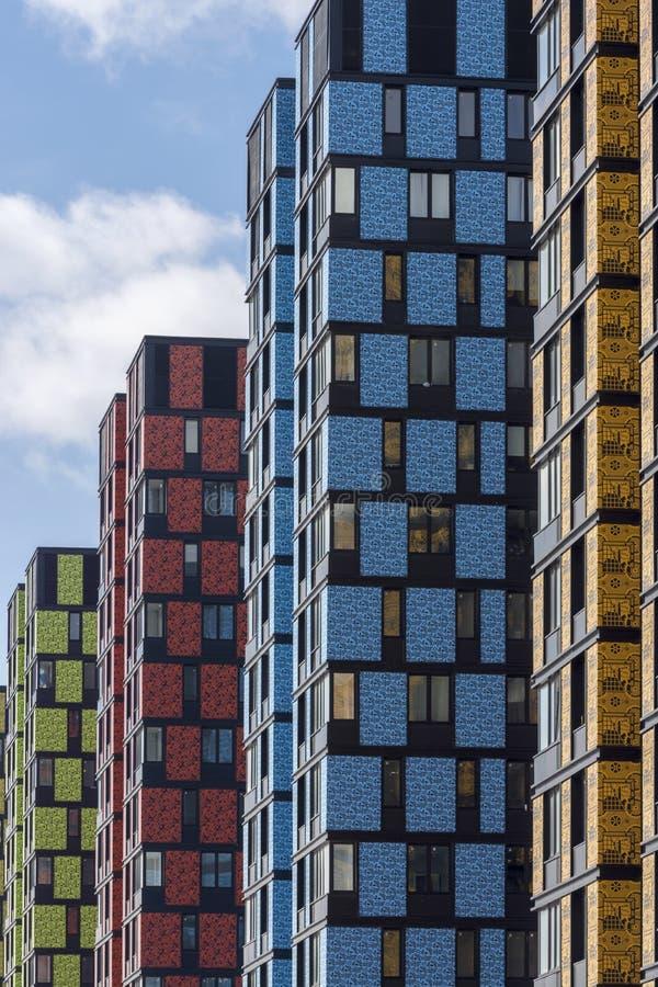 moscú Rusia r Complejo de apartamentos Technopark Complejo de nuevas viviendas foto de archivo