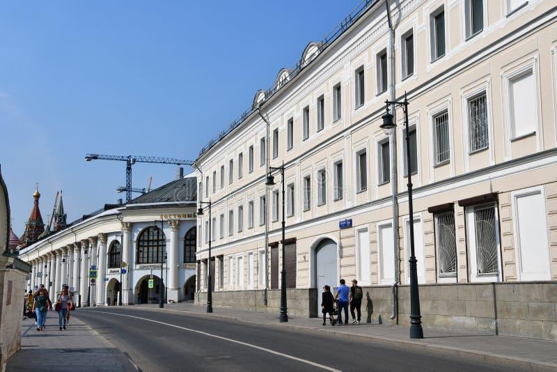 Moscú, Rusia, septiembre, 01, 2018 Casa de comercio anterior de Morozov, 1864 años construido, arquitecto A S Kaminsky Moscú, Var imágenes de archivo libres de regalías