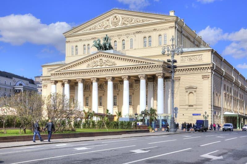 moscú Teatro de Bolshoi en cuadrado del teatro imagen de archivo libre de regalías