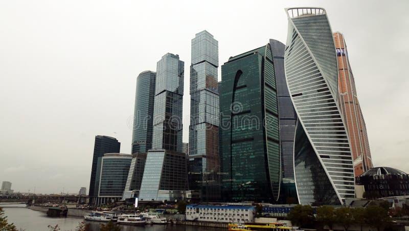 mosc? Rusia septiembre de 2018: Centro de negocios internacional de Mosc? en el d3ia, en tiempo nublado foto de archivo