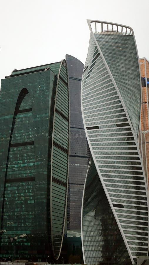 mosc? Rusia septiembre de 2018: Centro de negocios internacional de Mosc? en el d3ia, en tiempo nublado fotos de archivo libres de regalías