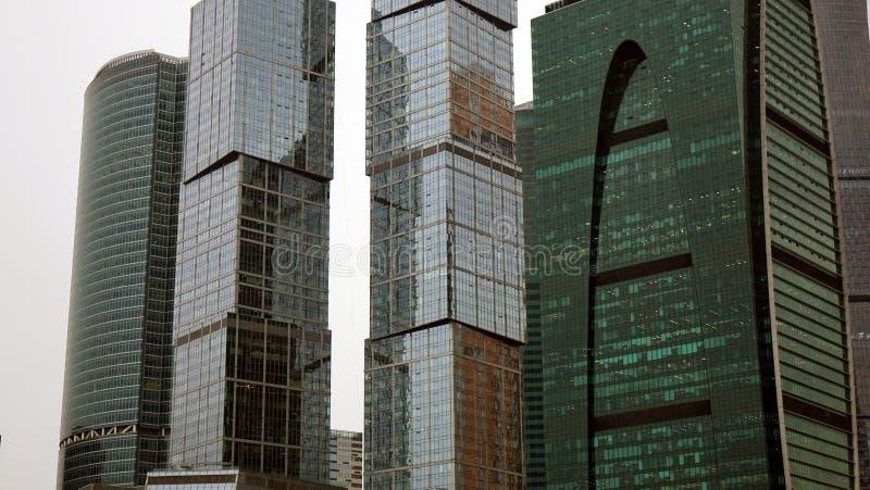 mosc? Rusia septiembre de 2018: Centro de negocios internacional de Moscú en el d3ia, en tiempo nublado foto de archivo libre de regalías