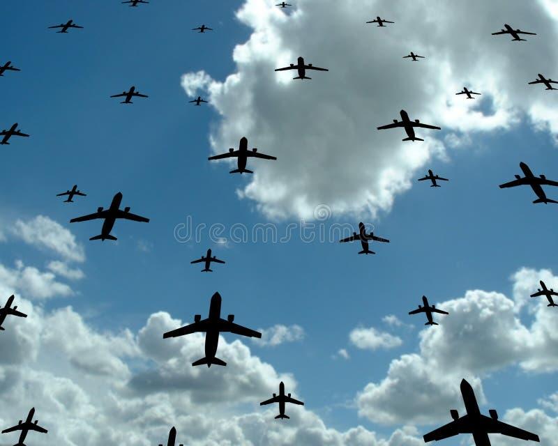 Download Mosca imagem de stock. Imagem de vôo, mosca, avião, céu - 530835