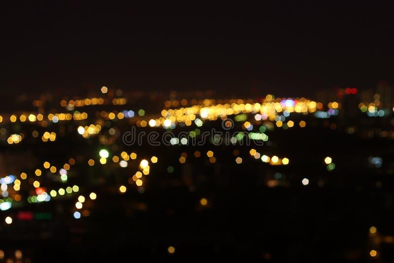 Mosca alla notte, 14 pavimenti fotografia stock libera da diritti