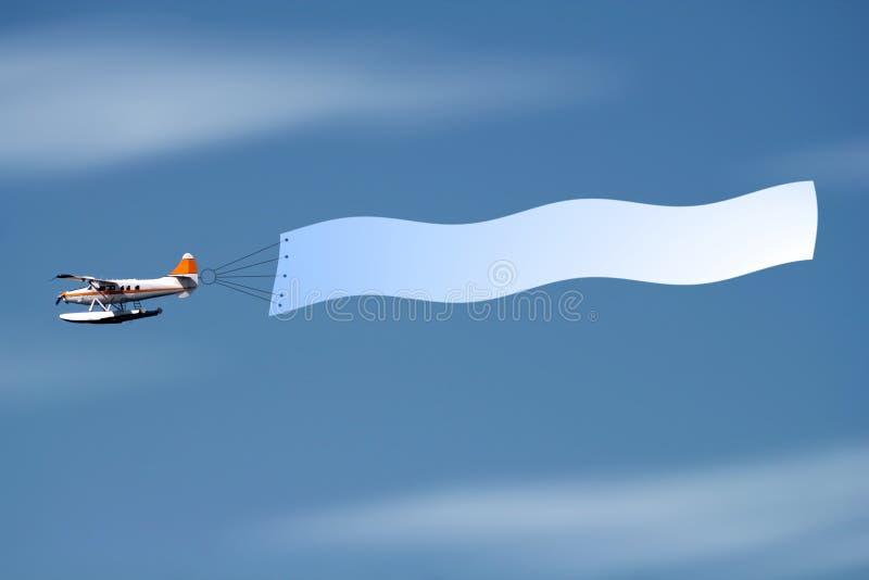 Mosca con la bandiera immagine stock