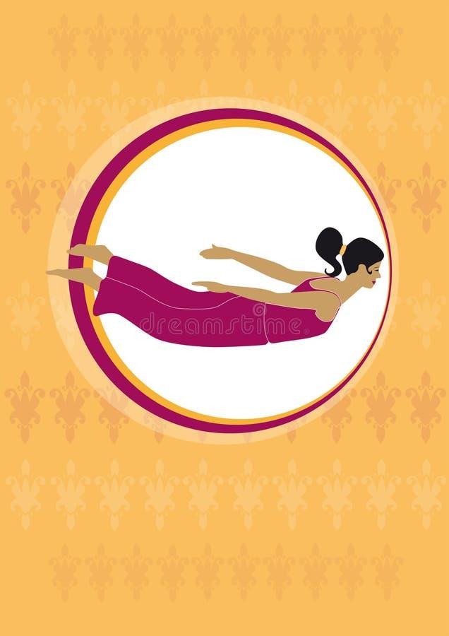 Mosca da ioga ilustração do vetor