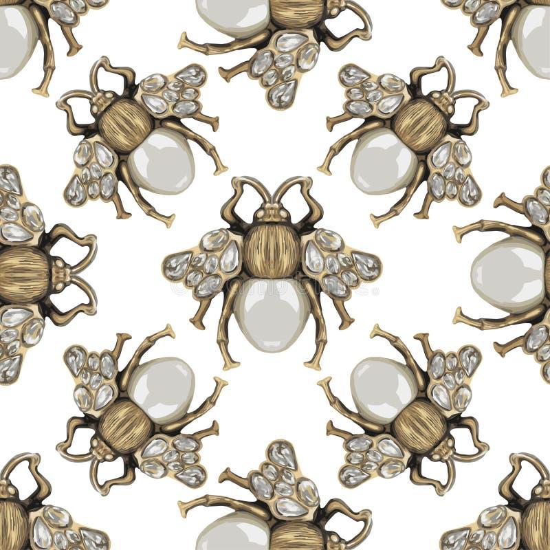 Mosca dei gioielli su un fondo bianco fotografie stock