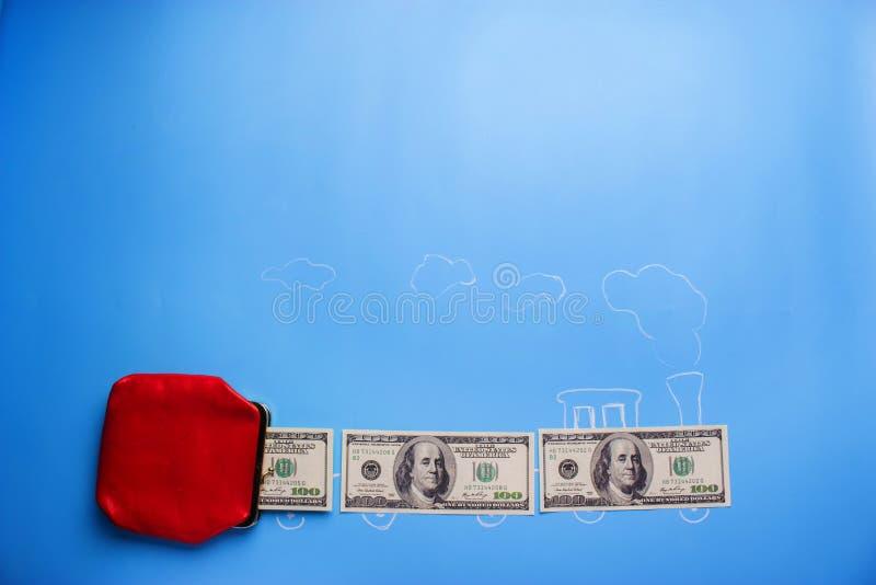 mosca dei soldi a partire dal portafoglio immagini stock libere da diritti