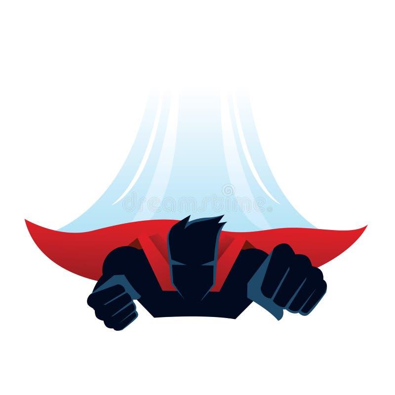 Mosca del super héroe ilustración del vector
