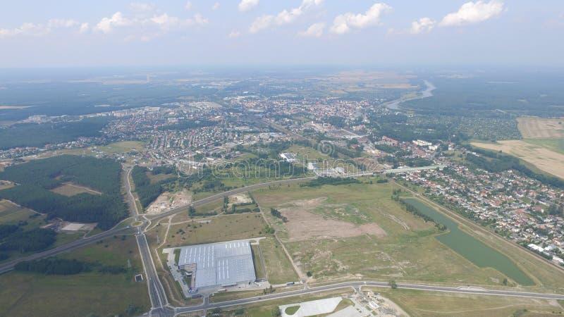 Mosca della Polonia in cielo fotografie stock libere da diritti