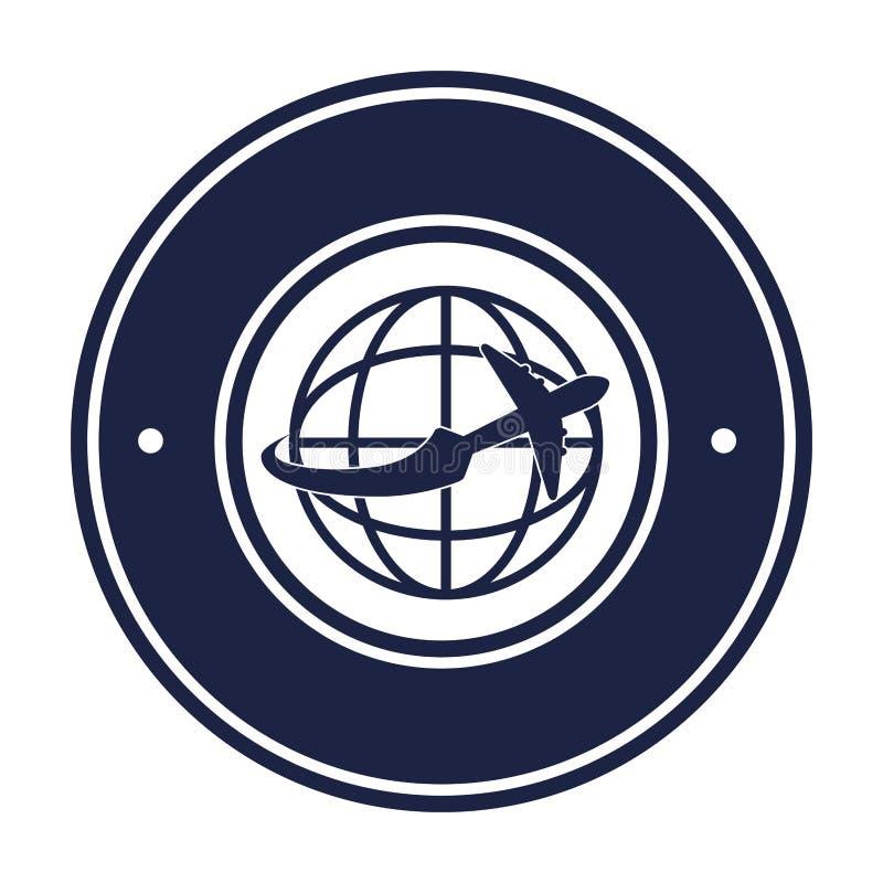 Mosca em torno do mundo ilustração do vetor