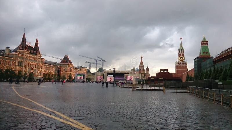 Download Mosca, Il 22 Maggio 2016 Quadrato Rosso Nella Sera Immagine Editoriale - Immagine di possa, quadrato: 117981815